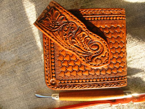 Buy A Hand Made Hand Tooled Hand Carved Wallet Billfold