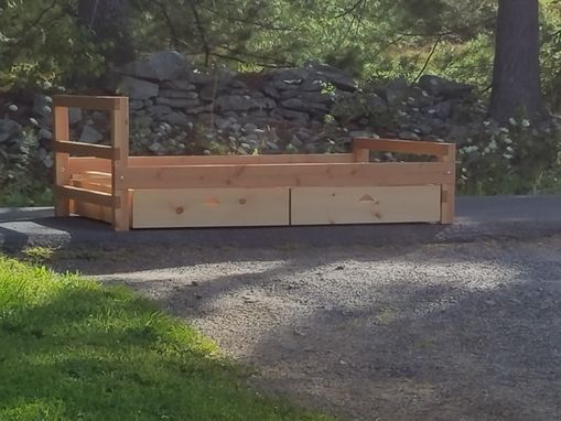 Custom Made Handmade Rustic Bed With Storage