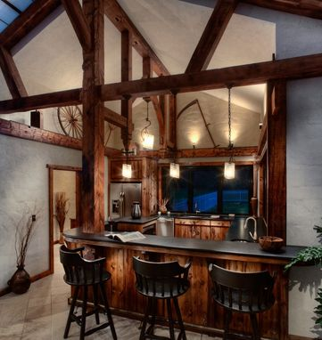 Custom Made Pool House Bar-Kitchen