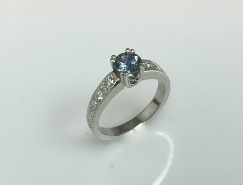 Custom Made Traditional Diamond Ring With Sharred Prong Sides