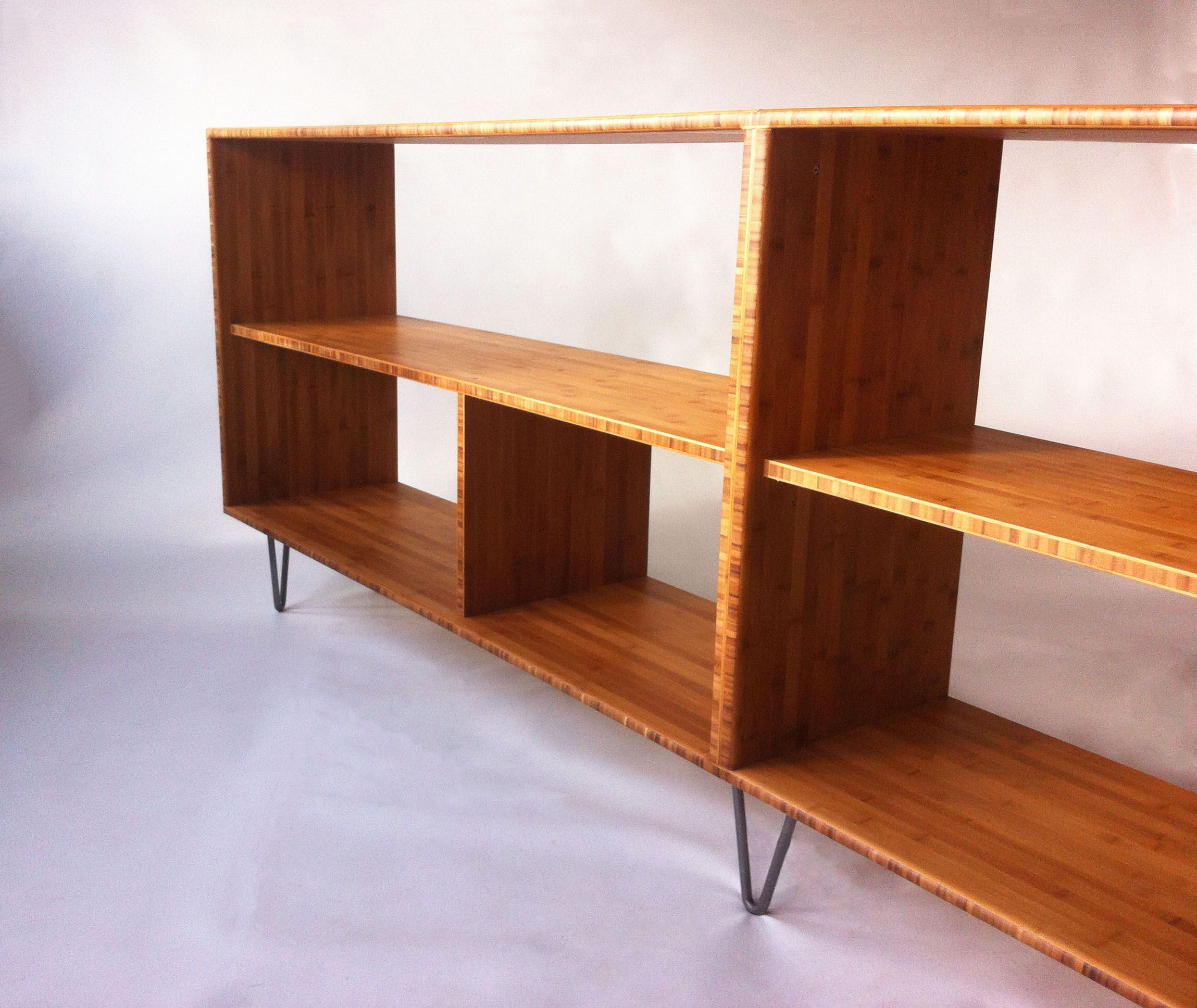 Buy Hand Crafted Mid Century Modern Style Bookcase In Solid