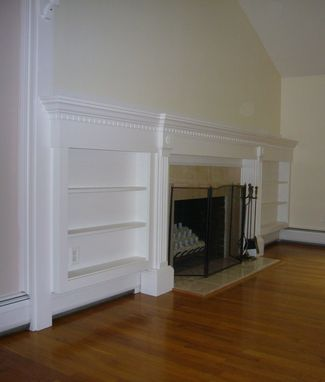 Custom Made Fireplace Mantels And Built-In Bookcases