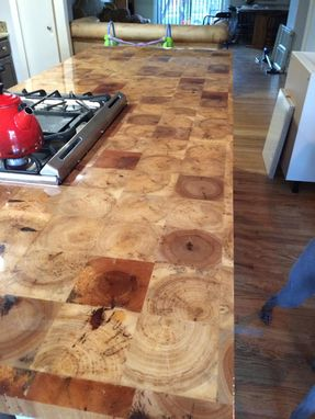 Custom Made Reclaimed Barn Beam End-Grain Countertop/Butcherblock/Island/Tabletop