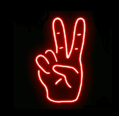 Custom Made Peace Neon Sign