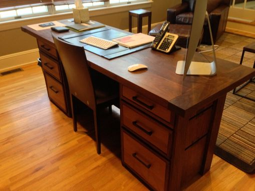 Custom Made Home Office Suite Of Walnut
