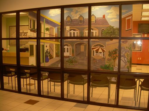 Custom Made Navy Exchange Retail Store - French Quarter Courtyard Mural