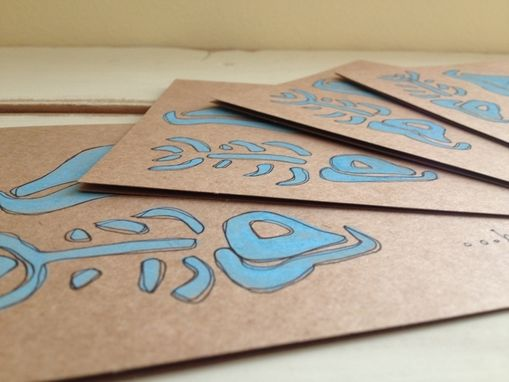 "Custom Made ""Here Fishy Fish Fish"" Note Cards"