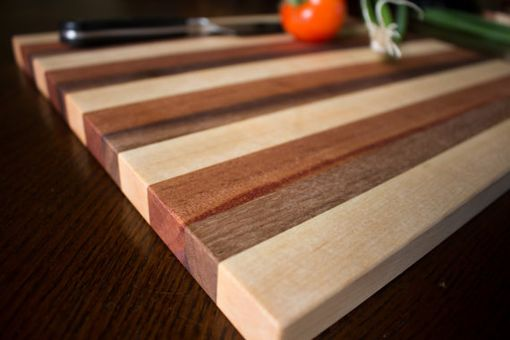Custom Made Butcher Block, Cutting Board, End Grain, Walnut, Mahogany & Rock Maple