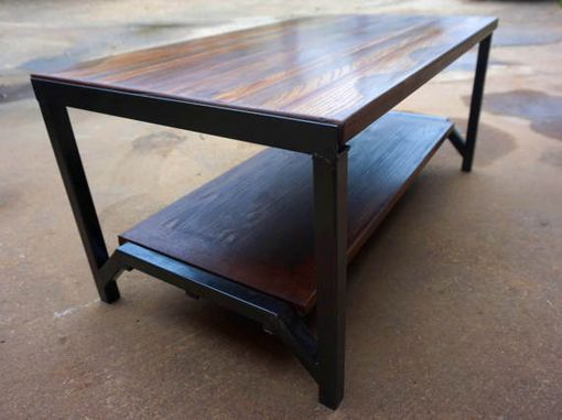 Custom Made Handcrafted Wood And Metal Coffee Table