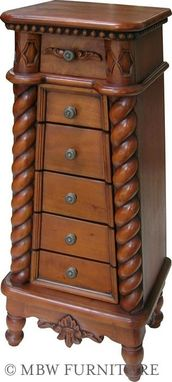 Custom Made Solid Mahogany Jewelry Chest