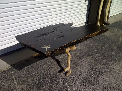 Custom Made Live Edge Coffee Table With A Starfish