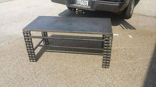 Custom Made Industrial Metal Coffee Table