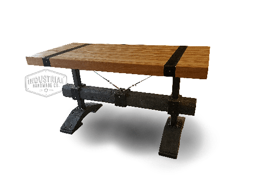 Custom Made Townsend- Rustic Industrial Butcher Block Table