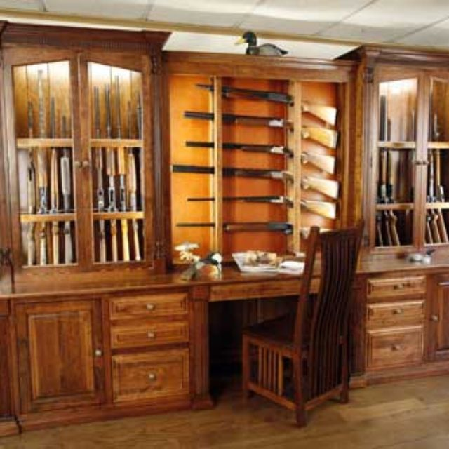 Hand Crafted Amish Made Custom Gun Cabinet By The Woodloft Custommade