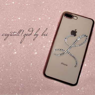 Custom Made Custom Initial Crystallized Iphone Case Any Model Cell Phone Bling W/ Swarovski Crystals Bedazzled