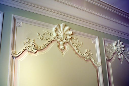 Custom Made Custom Carved Wall Panel Surround