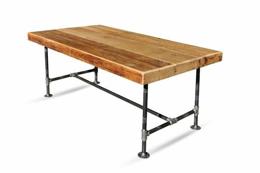 Custom Made Reclaimed Pine Industrial Joist Table