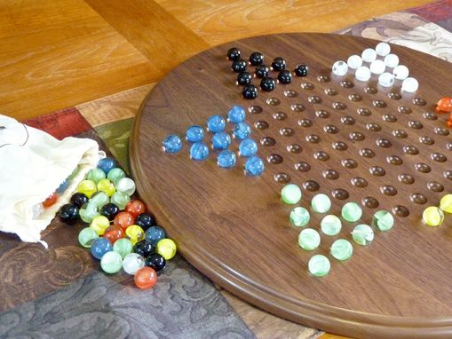 Custom Made Chinese Checkers Game Board With Marbles
