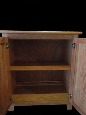 Custom Made Oak Cabinet For Towels