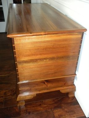 Custom Made Antique Heart Pine Hope/Blanket Chest