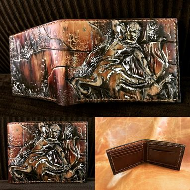 Custom Made Hand Tooled Leather Zodiac Wallets