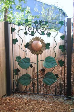 Custom Made Sunflower Gate