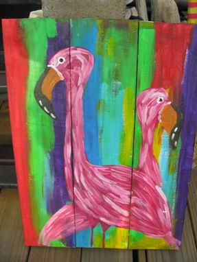 Custom Made Abstract Flamingo