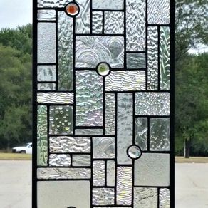 Stained Gl Hanging Panel Elegant Textures G 13 By Donna Terraza