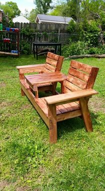 Custom Made Double Adirondack Chair With Center Table