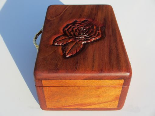 Custom Made Hand Carved Mahogany Jewelry Boxes With Your Design