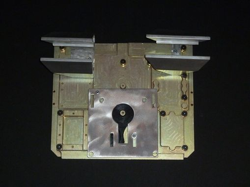 Custom Made Found/Recycled Metal Sculpture Aluminum Gold And Silver Keyhole Wall Hanging