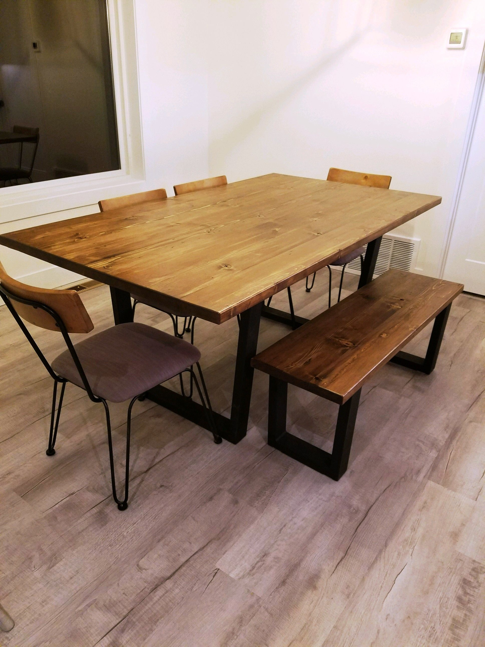 Buy Handmade Modern Industrial Minimalist Style Dining Table