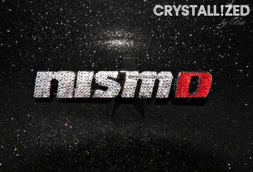 Custom Made Crystallized Nissan Nismo Car Emblem Made With Swarovski Crystals Bedazzled