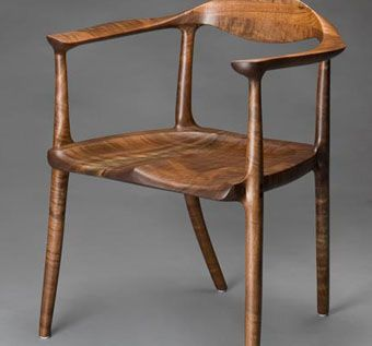 Custom Made No. 9 Chair In Oregon Black Walnut