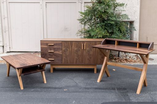 Custom Made Ranchwood: Modern Walnut + Alder Writing Desk