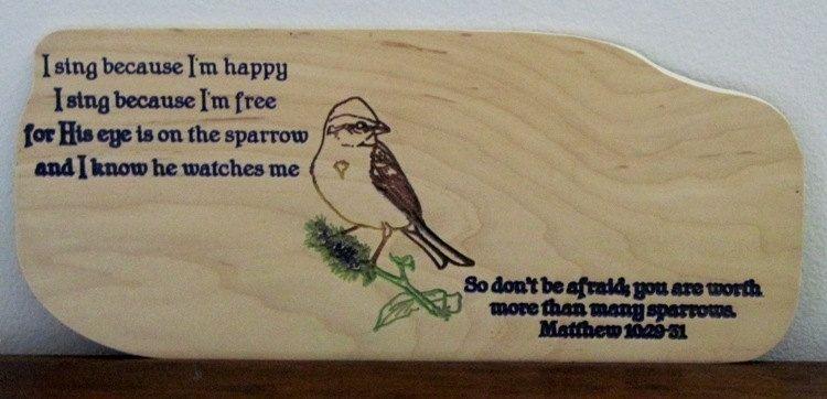 Custom Handmade Wood Sign Religious Inspirational Matthew