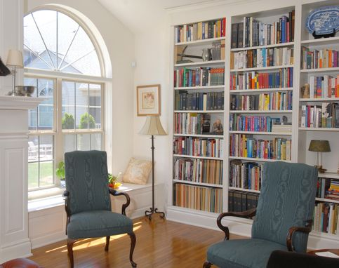 Custom Made Bookcase, Overmantle Window Seats
