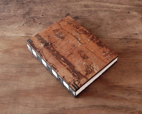 Custom Made Tree Bark Journal - Rustic Bark Journal, Cabin Or  Wedding Guest Book
