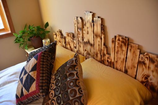 Custom Made Rustic Minneapolis Skyline Headboard
