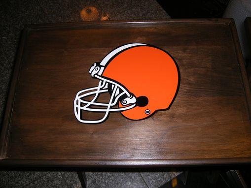 Custom Made Solid Walnut Cleveland Browns Tv Trays