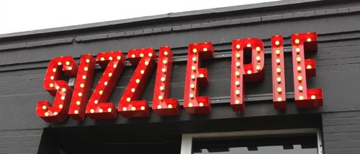 Custom Made Sizzle Pie Sign West
