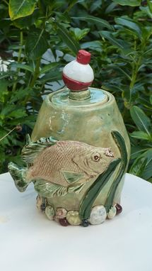 Custom Made Keepsake Portion Urn For A Fisherman