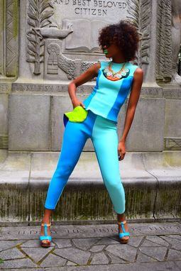 Custom Made Two Tone Pant Suit - Grace