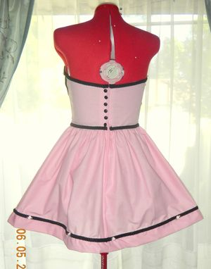 Custom Made Pink And Black Bettie Page Pinup Dress Custom Made To Fit