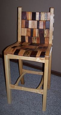 Custom Made Bar Chair - Rope And Block
