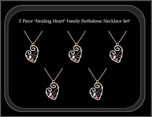 Custom Made Healing Jewelry, Attract Love, Birthstone Jewelry, Mother Necklace, Mother Daughter Jewelry