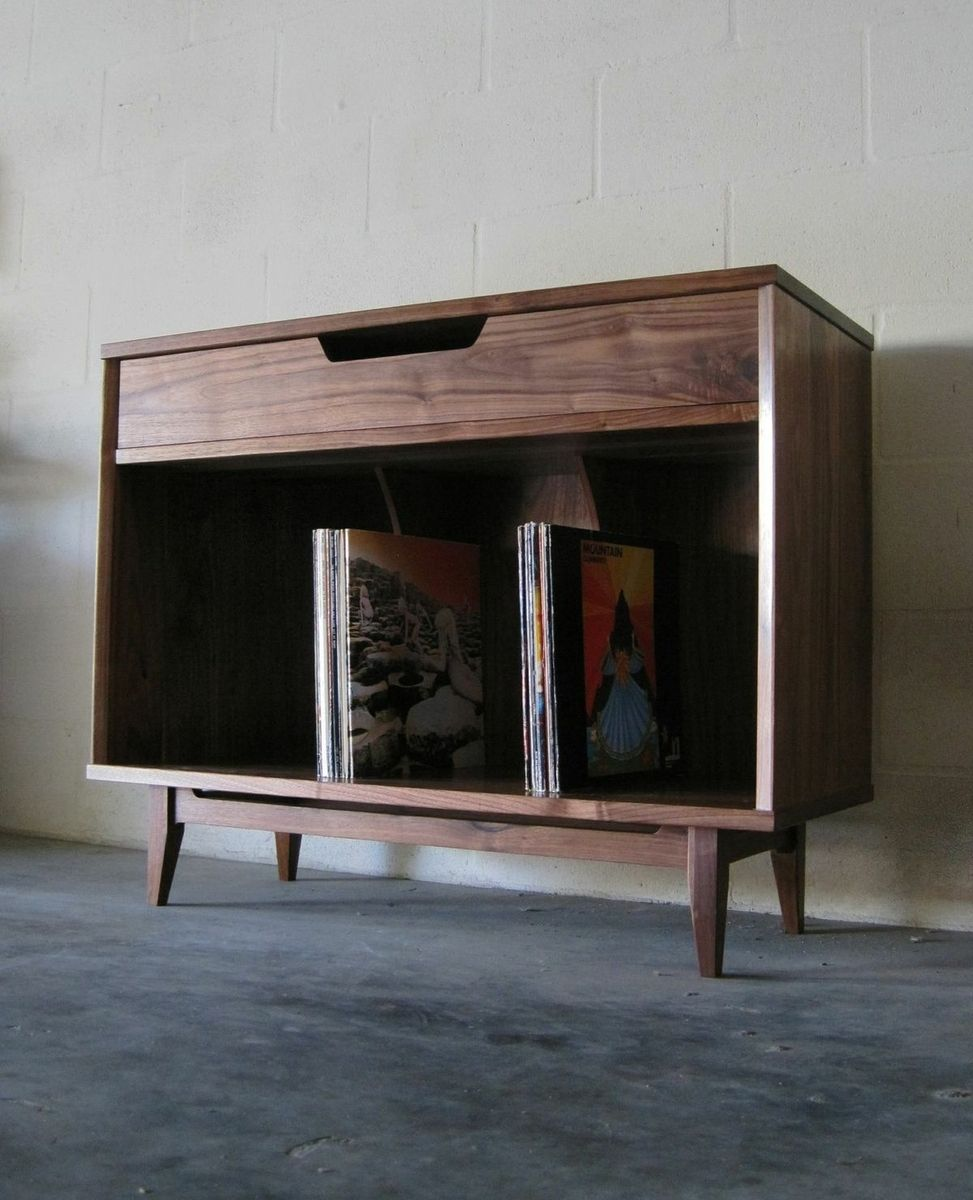 Hand Made Solid Walnut Record Cabinet by Pulp & Ore | CustomMade.com