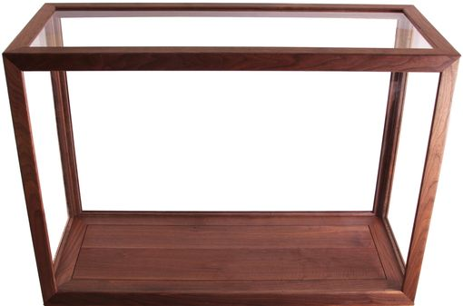 Custom Made Highly Custom Walnut And Glass Display Case