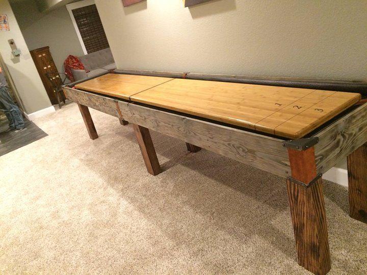 handmade custom shuffleboard table by ginger hawk customs