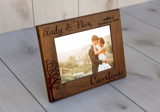 Custom Made Custom Engraved Picture Frames -- Pf-Wal-Andy Pam